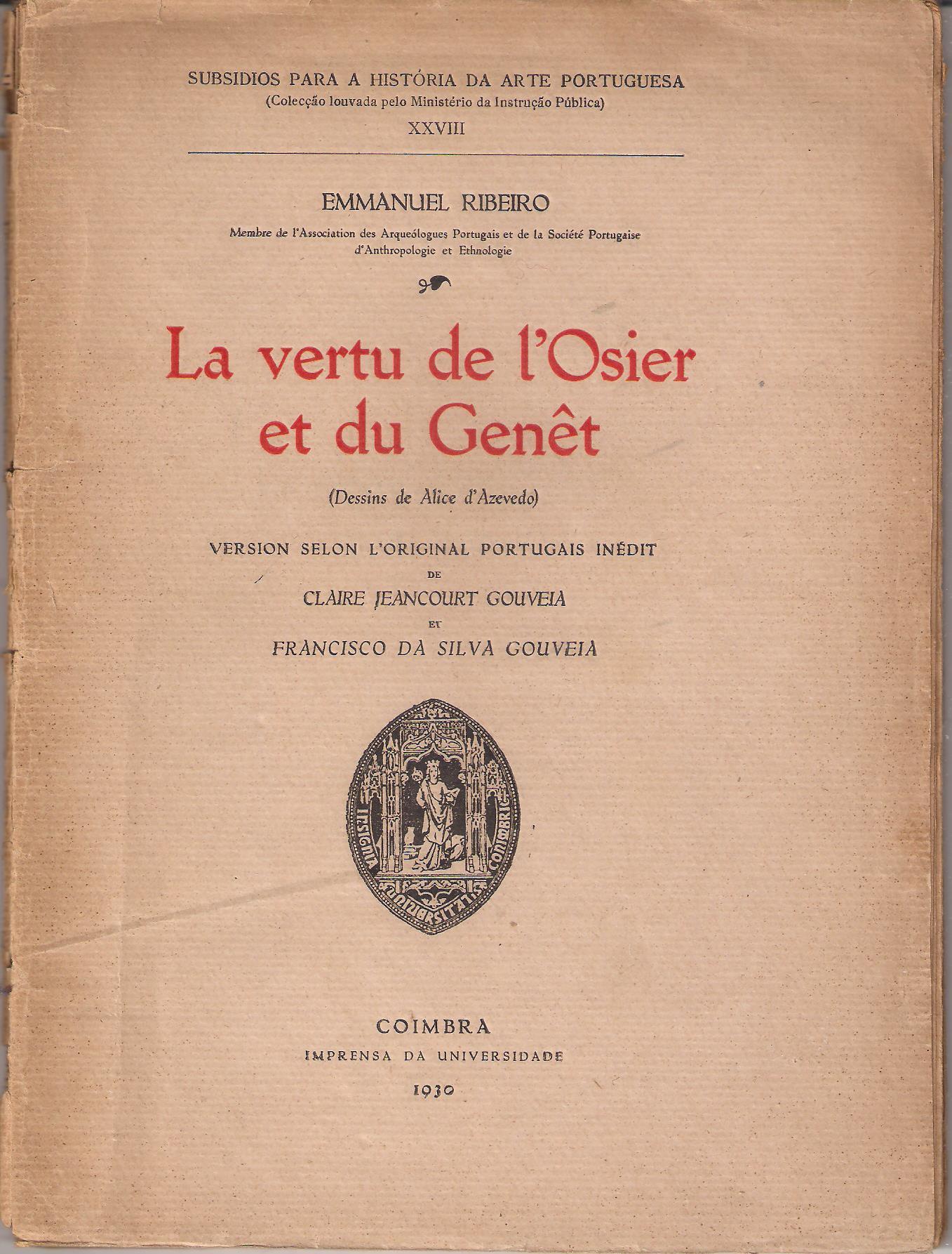 La vertu de l'osier et du genêt Book Cover