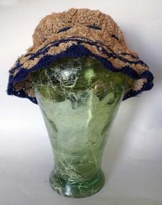 Cappello ventaglio blu fronte
